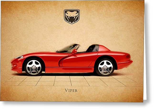 Rt. Greeting Cards - Dodge Viper RT Greeting Card by Mark Rogan
