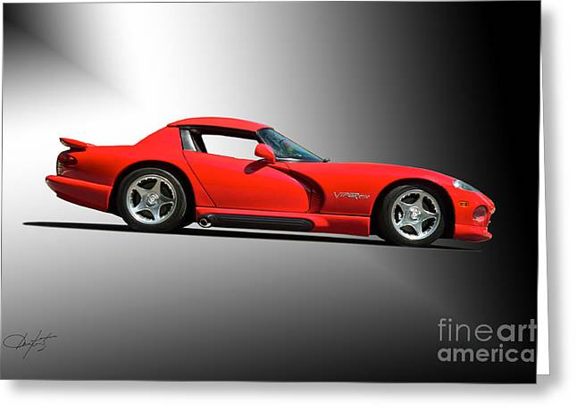 Recently Sold -  - Rally Greeting Cards - Dodge Viper RT10 II Studio Greeting Card by Dave Koontz