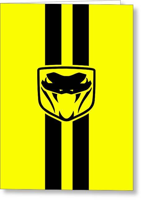 Dodge Viper Yellow Phone Case Greeting Card by Mark Rogan
