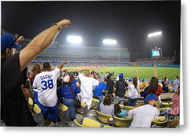 Dodger Stadium Greeting Cards - Dodger Stadium 3 Greeting Card by Micah May