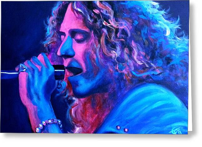 Robert Plant Paintings Greeting Cards - Does Anybody Remember Laughter? Greeting Card by Tom Carlton