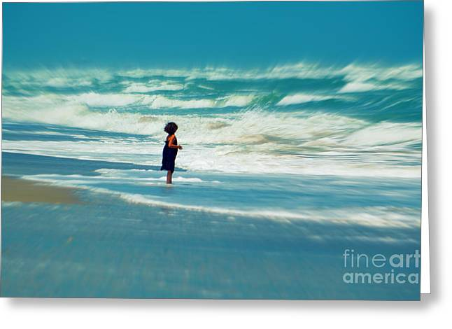 Ocean Scenes Greeting Cards - Does the ocean ever stops Greeting Card by Susanne Van Hulst