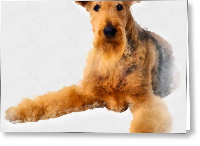 Hand Drawn Greeting Cards - Dog 10 Greeting Card by Victor Gladkiy