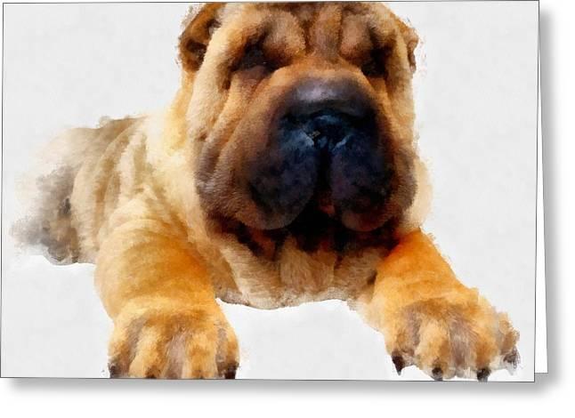 Hand Drawn Greeting Cards - Dog 2 Greeting Card by Victor Gladkiy