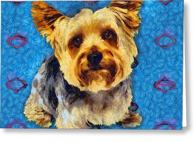 Hand Drawn Greeting Cards - Dog 3 Greeting Card by Victor Gladkiy