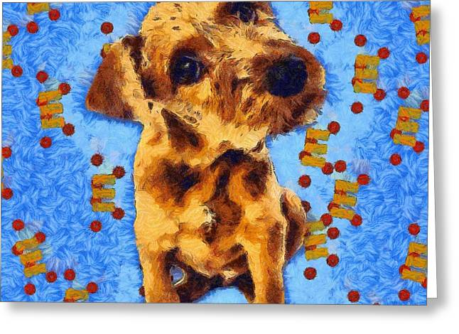 Hand Drawn Greeting Cards - Dog 5 Greeting Card by Victor Gladkiy