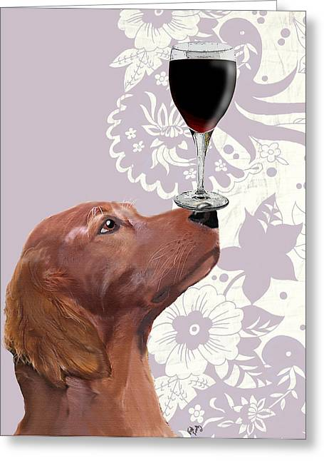 Canine Framed Prints Greeting Cards - Dog Au Vin Greeting Card by Kelly McLaughlan