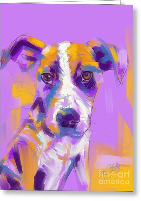 Dogs Greeting Cards - Dog Charlie Greeting Card by Go Van Kampen