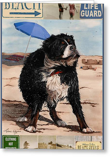 Acrylic Art Greeting Cards - Dog Days of Summer v2 Greeting Card by Liane Weyers