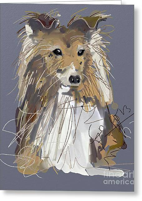 Dogs Greeting Cards - Dog Good Boy Greeting Card by Go Van Kampen