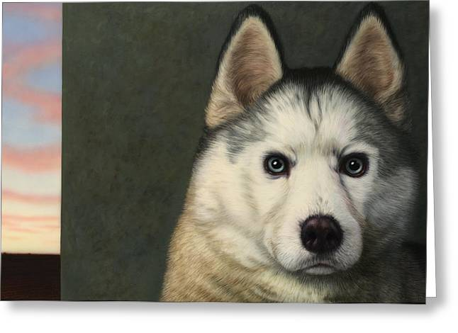 Pet Greeting Cards - Dog-Nature 9 Greeting Card by James W Johnson