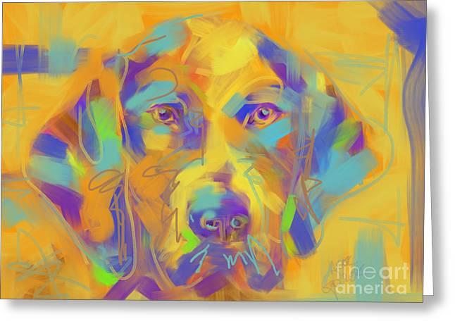 Dog Noor Greeting Card by Go Van Kampen