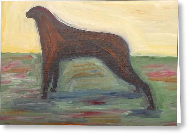 Dog Abstract Art Print Greeting Cards - Dog Greeting Card by Patrick J Murphy