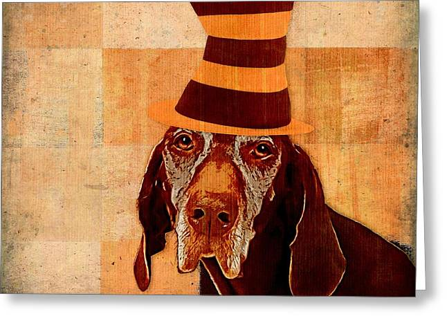 Personality Greeting Cards - Dog Personalities 11 Cat in the Hat Greeting Card by Variance Collections