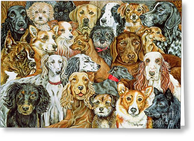 Dog Spread Greeting Card by Ditz