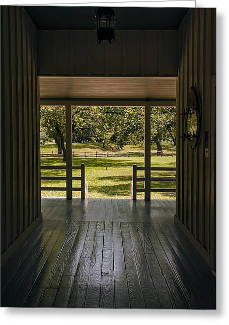 Historic Home Greeting Cards - Dog Trot at LBJ Birthplace Greeting Card by Joan Carroll