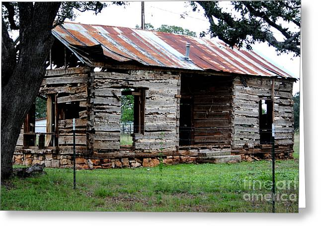 Dog Trots Photographs Greeting Cards - Dog Trot Cabin Greeting Card by Paul Wesson