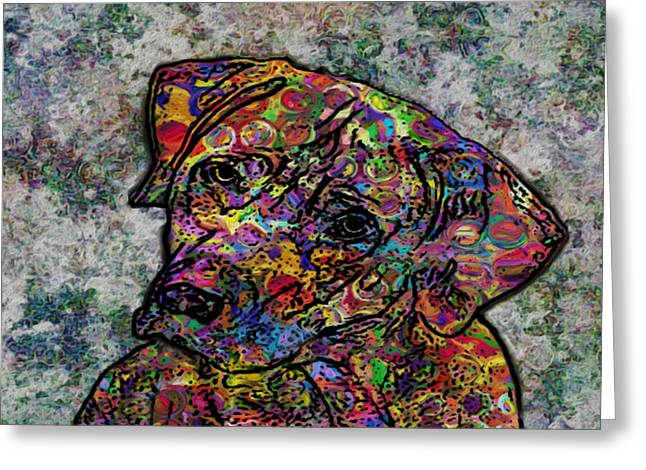 Left Alone Greeting Cards - Dog With Color Greeting Card by Jack Zulli