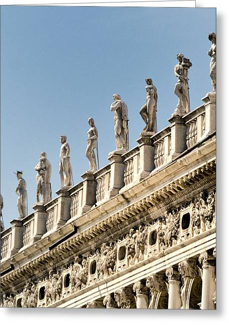 The Piazza Greeting Cards - Doges Detail - Venice Italy Greeting Card by Jon Berghoff