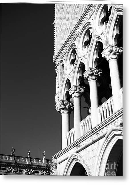 Venetian Balcony Greeting Cards - Doges Palace 2015 Greeting Card by John Rizzuto