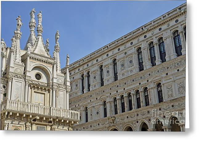 Palace Ducal Greeting Cards - Doges Palace courtyard Greeting Card by Sami Sarkis