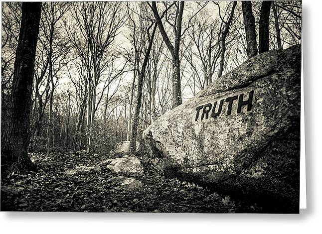 Dogtown Rocks With Inspirational Word Greeting Card by Panoramic Images