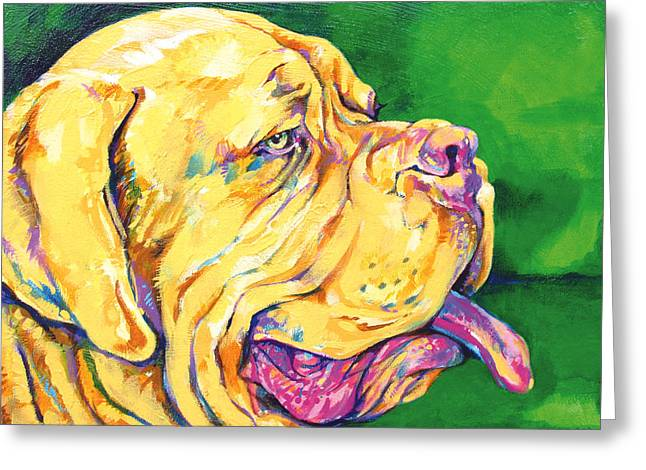 Guard Dog Paintings Greeting Cards - Dogue De Bordeaux Greeting Card by Derrick Higgins