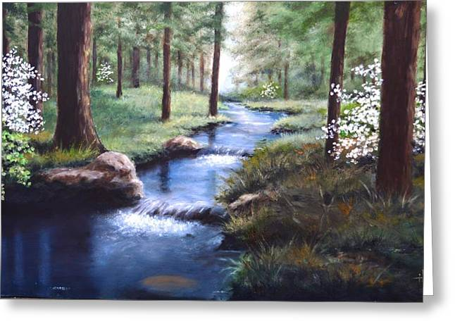 Bob Hallmark Greeting Cards - Dogwood Creek Greeting Card by Bob Hallmark