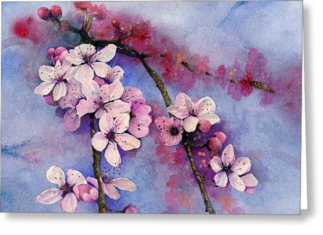Indiana Flowers Paintings Greeting Cards - Dogwood Greeting Card by John Christopher Bradley