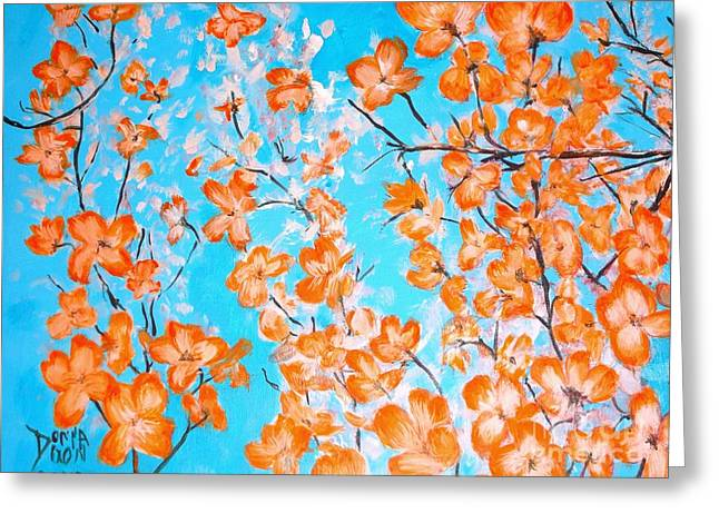 Dogwoods Greeting Card by Donna Dixon