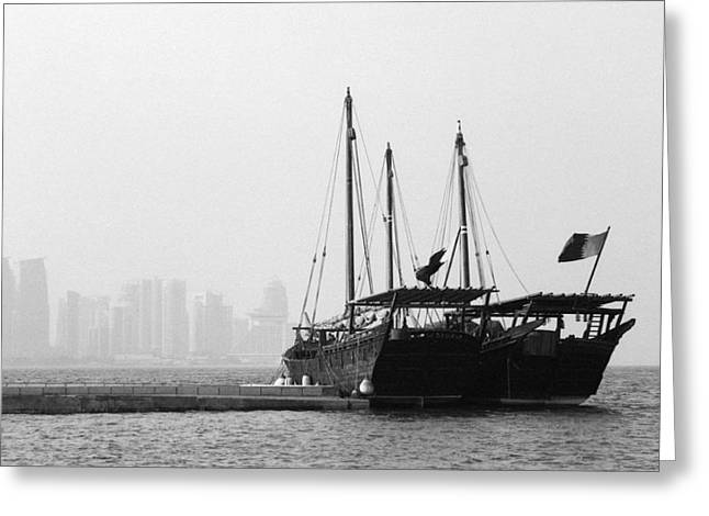 Doha Bay 2011 Greeting Card by Paul Cowan
