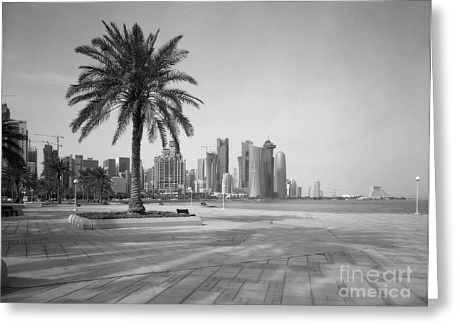 Doha Corniche April 2013 Greeting Card by Paul Cowan