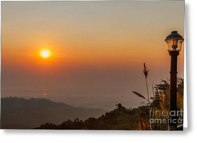 Doi Greeting Cards - Doi Tung Sunset Greeting Card by Adrian Evans