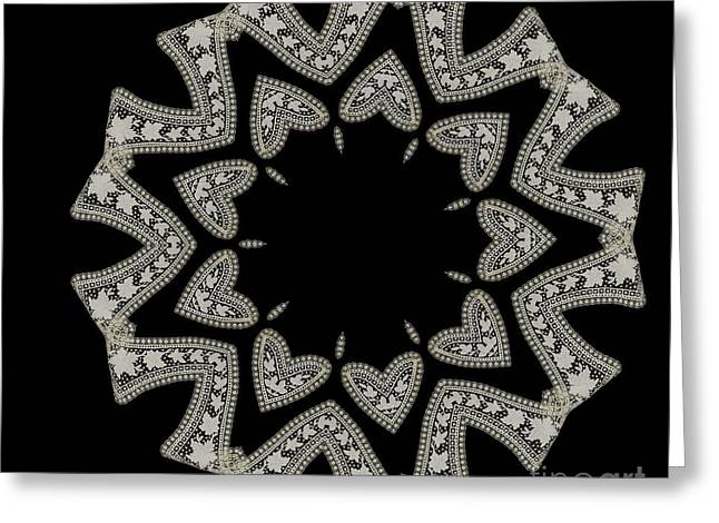 Crocheted Doily Greeting Cards - Doily BK-15269-A-026a Greeting Card by Becky Hayes