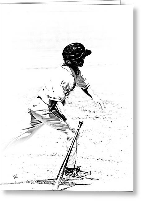 Baseball Bat Greeting Cards - Doing It Greeting Card by Karol  Livote