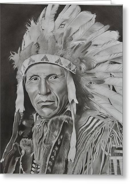 Dokata Chief Greeting Card by Brian Broadway