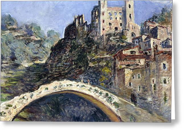 Monet Reproduction Greeting Cards - Dolceacqua Greeting Card by Claude Monet