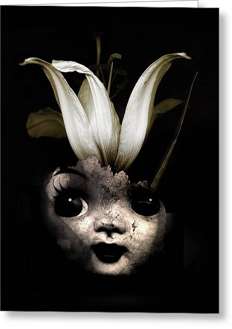 Doll Flower Greeting Card by Johan Lilja