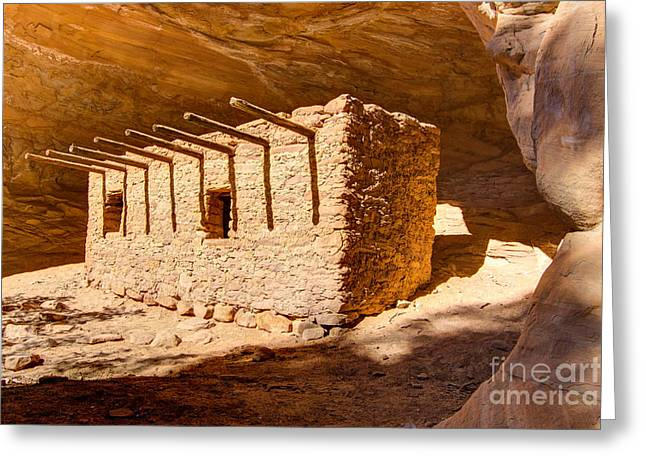 Cliff Dwellings Greeting Cards - Doll House Anasazi Ruin - Utah Greeting Card by Gary Whitton