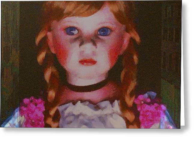 Painted In Paris Greeting Cards - Doll in Paris Greeting Card by Catherine Lott