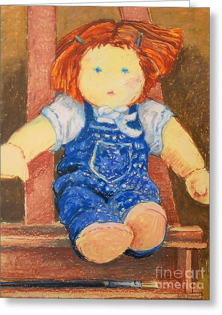 Children Pastels Greeting Cards - Doll Greeting Card by Lutz Baar