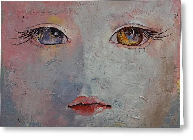 Eyelash Greeting Cards - Baby Doll Greeting Card by Michael Creese