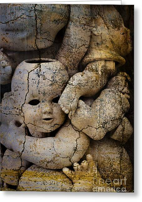 Surrealistic Images Greeting Cards - Doll Parts I Greeting Card by Dave Gordon