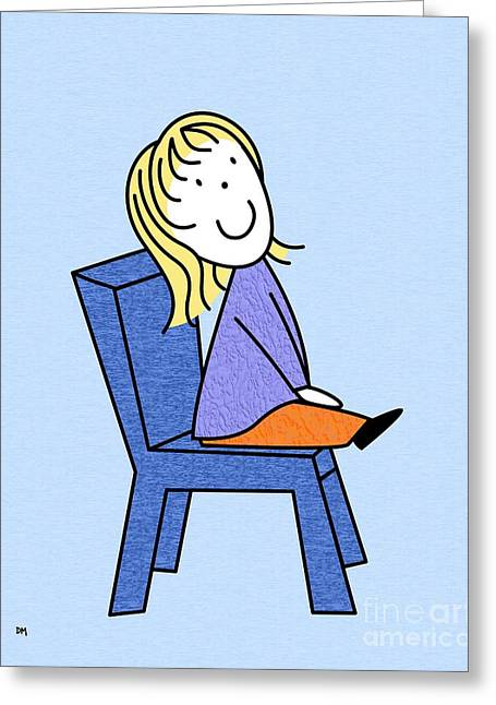 Toddler Girl Greeting Cards - Doll Sitting 4 Greeting Card by Donna Mibus