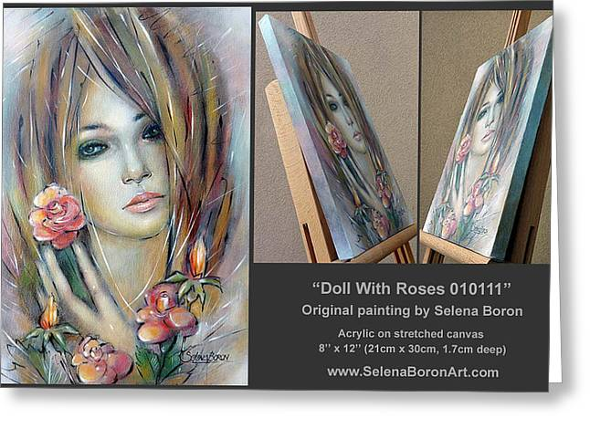 Women Greeting Cards - Doll With Roses 010111 Comp Greeting Card by Selena Boron