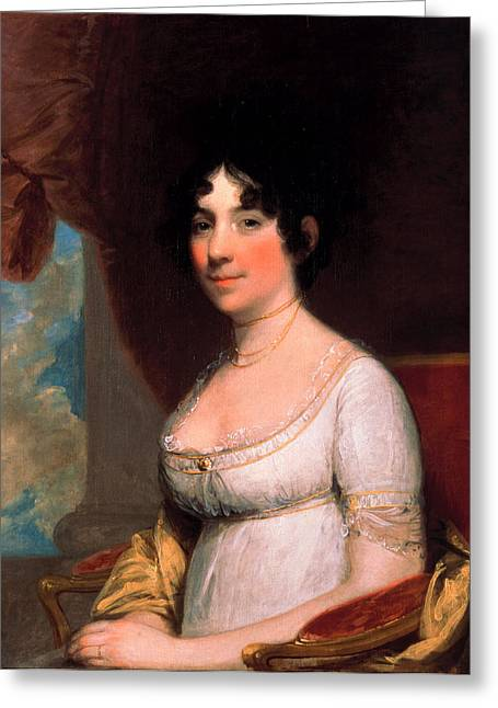 Payne Greeting Cards - Dolley Payne Madison Greeting Card by Gilbert Stuart