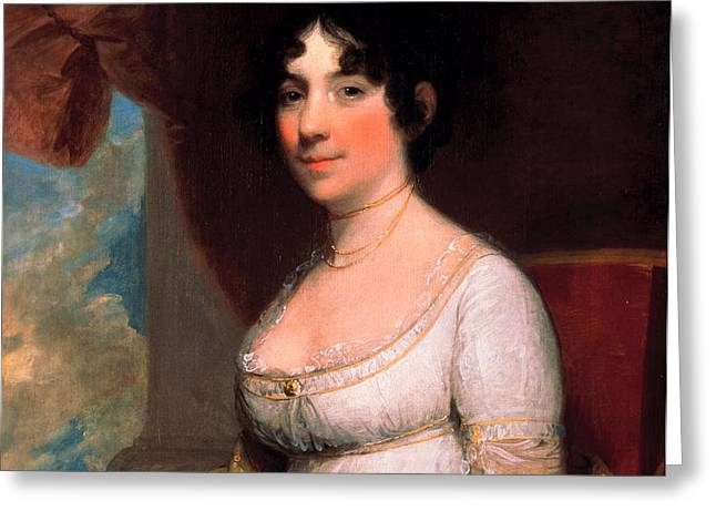 Dolley Payne Madison Greeting Card by Gilbert Stuart