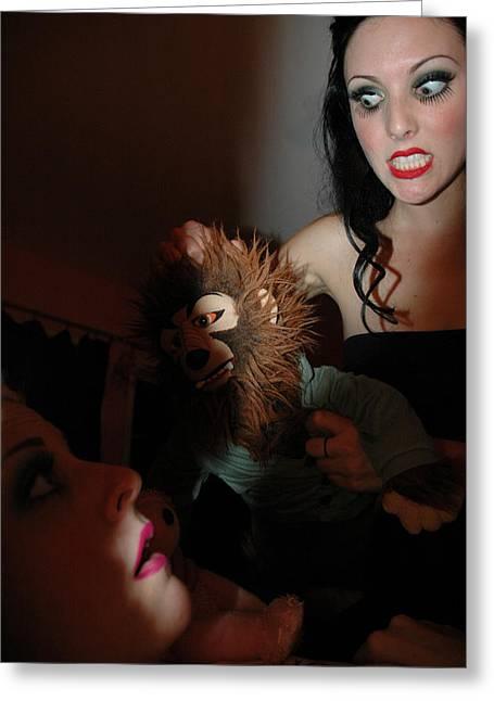 Suffocation Greeting Cards - Dolls 1-68 Greeting Card by Liezel Rubin