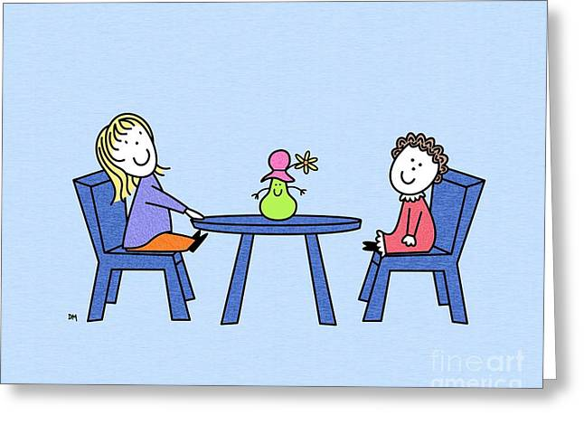 Juvenile Art Greeting Cards - Dolls Greeting Card by Donna Mibus