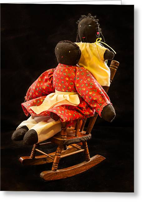 Rocking Chairs Greeting Cards - Dolls Greeting Card by Jean Noren